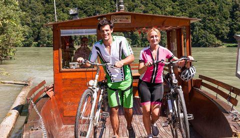Familienradtour an der Donau zur Schlöge