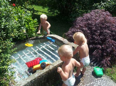 Urlaub in Neustift - Leithenmühle Matheis - Wasser und Kinder