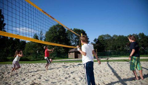 Zwei Beachvolleyballplätze für spannende Maches