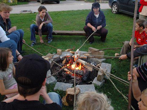 Urlaub in Neustift - Familie Rauscher - Lagerfeuer
