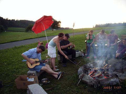 Urlaub in Neustift - Höllmühle - Lagerfeuer